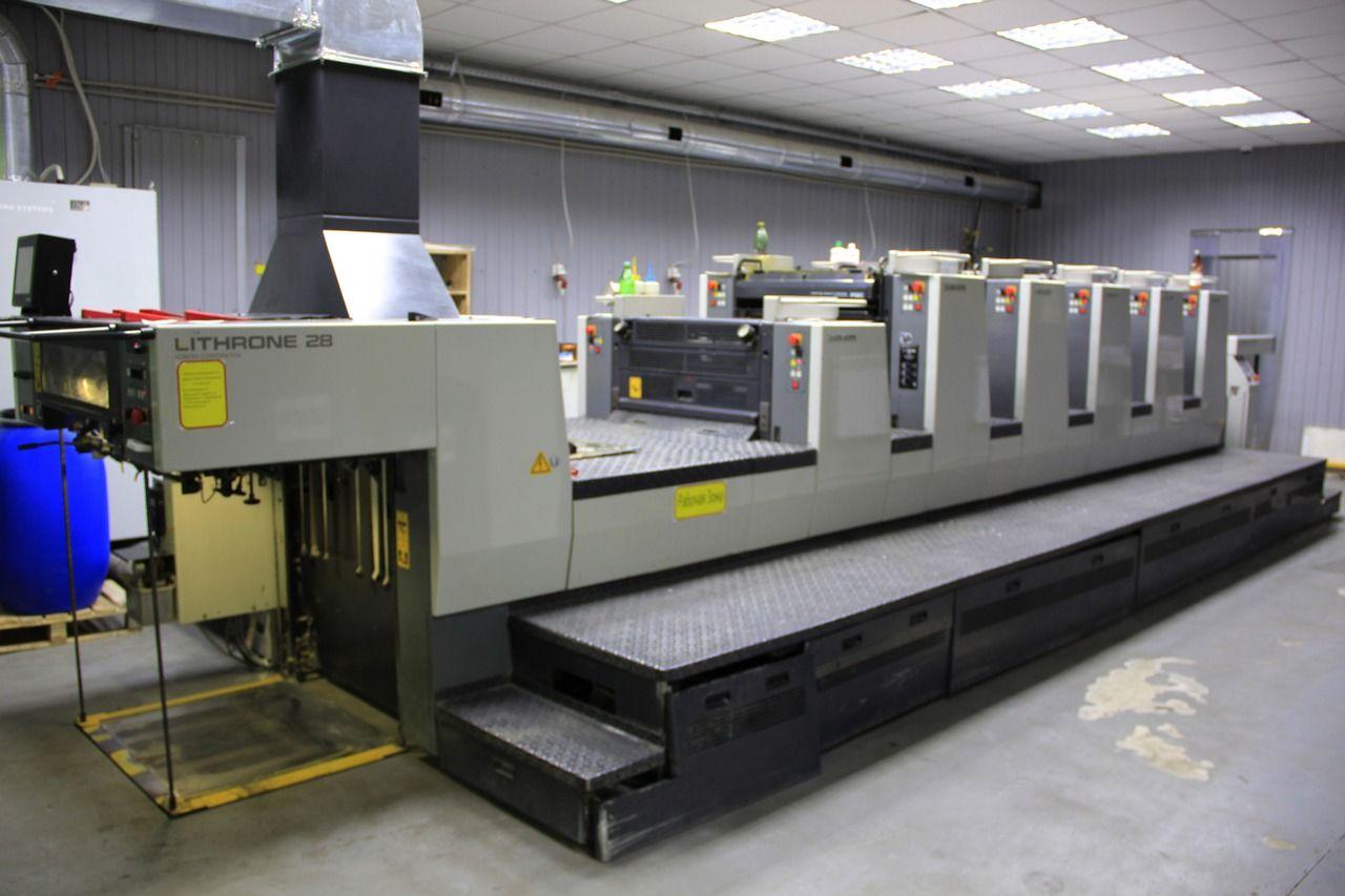 Печатная 5-красочная машина с секцией лака